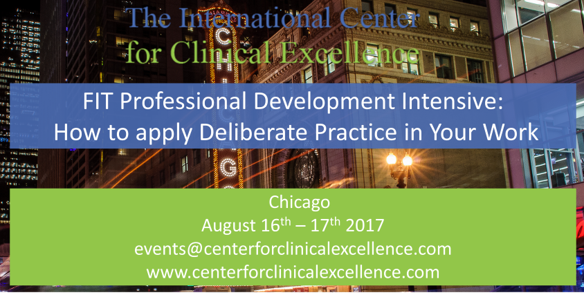 FIT Professional Development Intensive 2017 - PCOMS ORS SRS