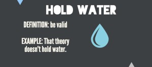 hold water