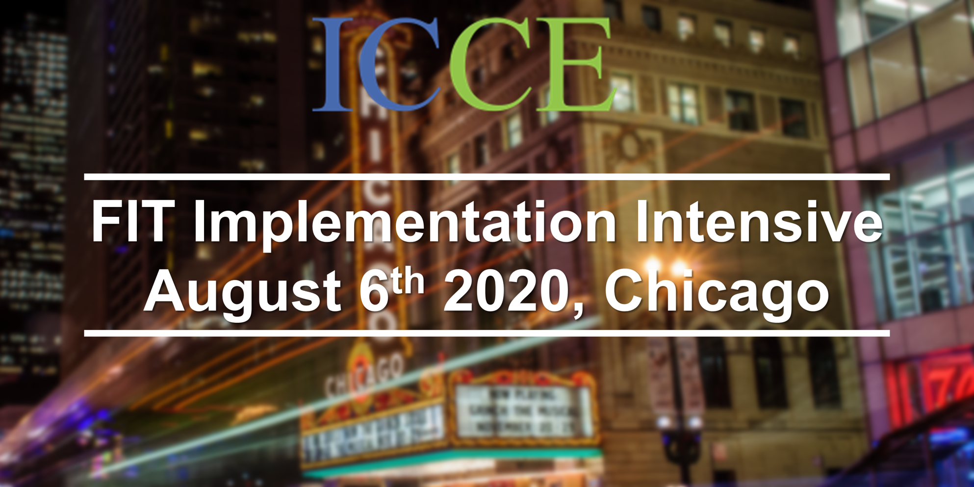 FIT Implementation Intensive 2020 - ICCE