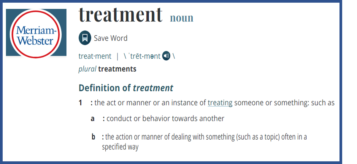 Treatment definition